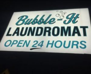 Picture of Bubble-It Laundromat Sign