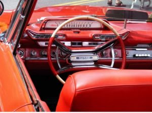 1960 Dodge Sedan Interior showing push bottons