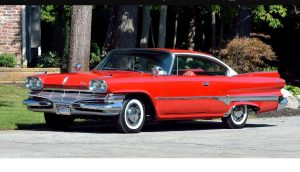 1960 Two Door Dodge Sedan, Red and White
