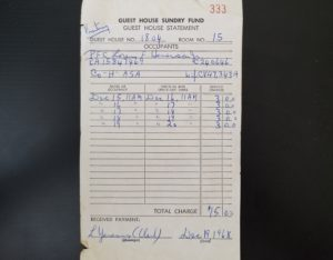 Receipt from 1968
