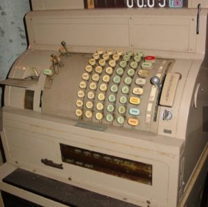 Manual Cash Register from the 1960s