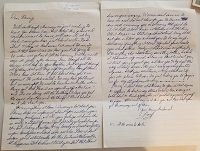 Hndwritten Letter with emotions