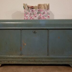 Antique Blue Cedar Chest